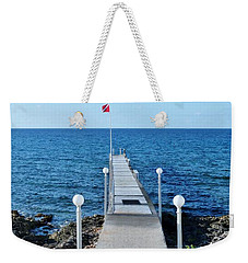 Weekender Tote Bag featuring the photograph Divers Down by Amar Sheow