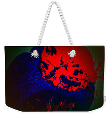Weekender Tote Bag featuring the painting Divide by Jacqueline McReynolds