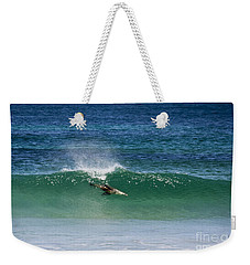 Diving Beneath The Curl Weekender Tote Bag by Mike Dawson