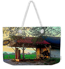 Weekender Tote Bag featuring the photograph Dixie Oil And Gasoline by Rodney Lee Williams