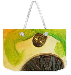 Weekender Tote Bag featuring the painting Djembe by Marc Philippe Joly