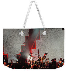 Weekender Tote Bag featuring the photograph Dmb Members by Aaron Martens