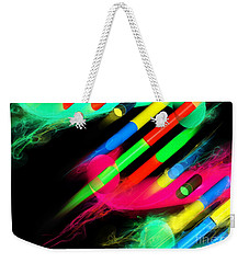 Weekender Tote Bag featuring the digital art Dna Dreaming 8 by Russell Kightley