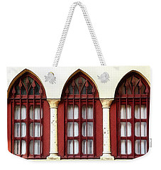 Weekender Tote Bag featuring the photograph Do-00368 The 3 Windows Downtown by Digital Oil