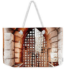 Weekender Tote Bag featuring the photograph Do-00424 Portail Of Citadel Sidon by Digital Oil