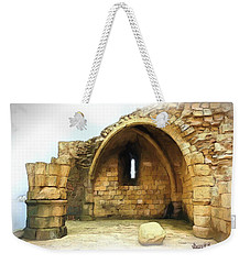Weekender Tote Bag featuring the photograph Do-00427 Citadel Of Sidon by Digital Oil