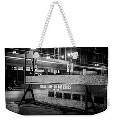 Do Not Cross Weekender Tote Bag by Melinda Ledsome