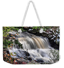 Weekender Tote Bag featuring the photograph Doane's Lower Falls In Central Mass. by Mitchell R Grosky
