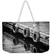 Dock Bumpers Weekender Tote Bag by Melinda Ledsome