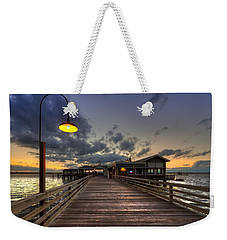 Dock Lights At Jekyll Island Weekender Tote Bag