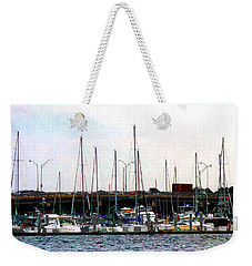 Weekender Tote Bag featuring the photograph Docked Boats Norfolk Va by Susan Savad