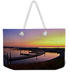 Weekender Tote Bag featuring the photograph Docks At Sunrise by Jonah  Anderson