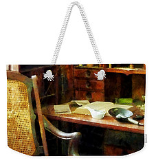 Weekender Tote Bag featuring the photograph Doctor - Doctor's Office by Susan Savad