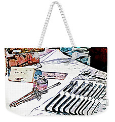 Weekender Tote Bag featuring the photograph Doctor - Medical Instruments by Susan Savad