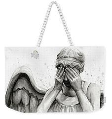Doctor Who Weeping Angel Don't Blink Weekender Tote Bag