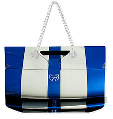 Dodge Viper Hood Emblem Weekender Tote Bag by Jill Reger