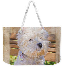 Dog Art - Just One Look Weekender Tote Bag by Jordan Blackstone