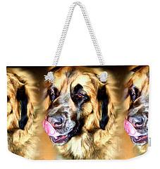 Weekender Tote Bag featuring the digital art Dog by Daniel Janda
