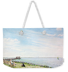 Dog Days On Obx Weekender Tote Bag