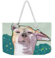 Dog In Wind Weekender Tote Bag