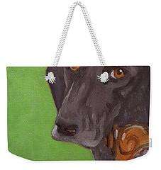 Dog On Chair Weekender Tote Bag