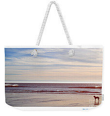 Dog On The Beach Weekender Tote Bag