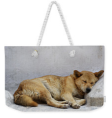 Dog Sleeping Weekender Tote Bag