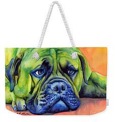 Dog Tired Weekender Tote Bag