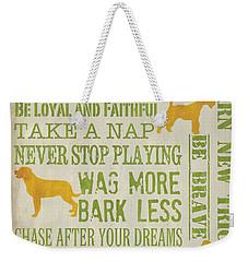 Dog Wisdom Weekender Tote Bag by Debbie DeWitt