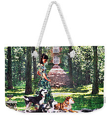 Dogs Lay At Her Feet Weekender Tote Bag by Steve Karol