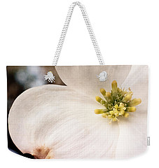Dogwood Bloom Closeup Weekender Tote Bag