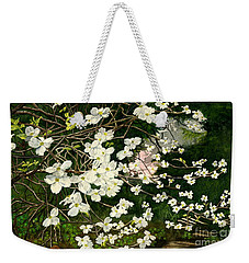 Weekender Tote Bag featuring the painting Dogwoods Virginia by Melly Terpening