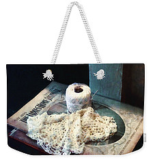 Doily And Crochet Thread Weekender Tote Bag