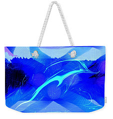 Weekender Tote Bag featuring the digital art Dolphin Abstract - 1 by Kae Cheatham