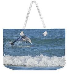 Dolphin In Surf Weekender Tote Bag