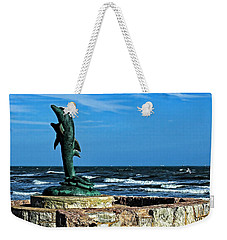 Dolphin Statue Weekender Tote Bag