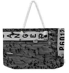Domestic Abuse Weekender Tote Bag by Amar Sheow