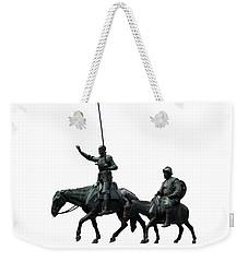 Don Quixote And Sancho Panza  Weekender Tote Bag by Fabrizio Troiani