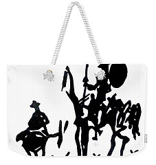 Weekender Tote Bag featuring the painting Don Quixote by Michelle Dallocchio