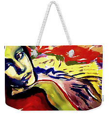Weekender Tote Bag featuring the painting Don T Look Back by Helena Wierzbicki