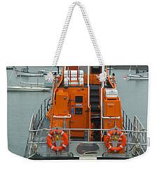 Donaghadee Rescue Lifeboat Weekender Tote Bag by Brenda Brown