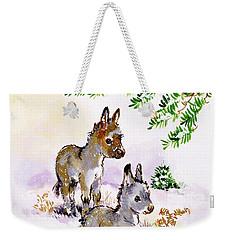 Donkeys Weekender Tote Bag by Diane Matthes