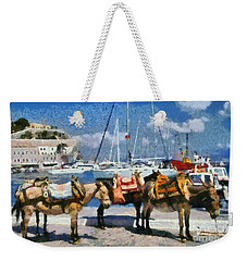 Donkeys Waiting For A Ride Weekender Tote Bag