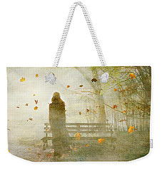 Weekender Tote Bag featuring the digital art Don't Look Back ... by Chris Armytage