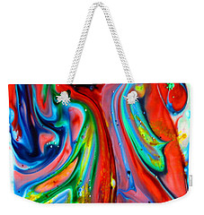 Weekender Tote Bag featuring the painting Dont Worry  Be Happy by Joyce Dickens