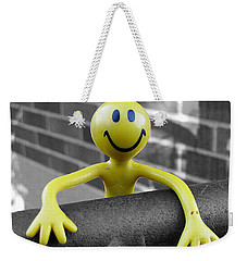 Weekender Tote Bag featuring the photograph Don't Worry Be Happy by Nina Silver
