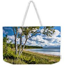 Door County Europe Bay Birch Weekender Tote Bag by Christopher Arndt