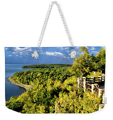 Door County Peninsula State Park Svens Bluff Overlook Weekender Tote Bag