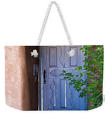 Weekender Tote Bag featuring the photograph Doors Of Santa Fe by Roselynne Broussard