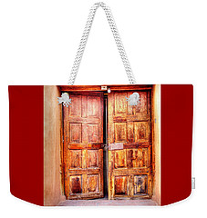 Doors To The Inner Santuario De Chimayo Weekender Tote Bag by Lanita Williams